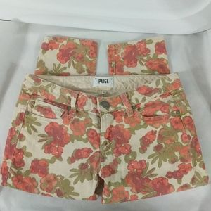 Paige Skyline Ankle Peg Cropped Floral Print - 26